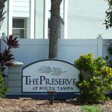 Rental info for The Preserve at South Tampa in the Ballast Point area