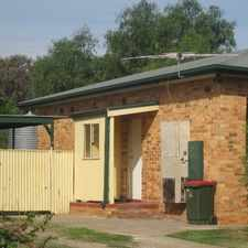 Rental info for 3 bedroom semi, good sized rooms, open plan kitchen/dining, floorboards throughout, secure parking, spacious backyard in the Adelaide area
