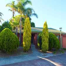 Rental info for SPACIOUS VILLA WITH SUPERB PRIVATE GARDENS in the Springvale South area
