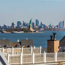 Rental info for Port Liberte 7th floor condo with views of NYC, Statue, Hudson