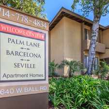 Rental info for Barcelona, Palm Lane and Seville Apartment Homes