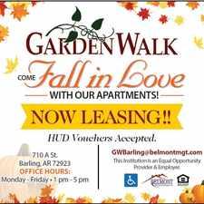 Rental info for GardenWalk of Barling