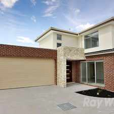 Rental info for Near new 3 bedroom, 2 bathroom rear townhouse in the Melbourne area