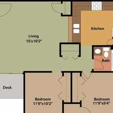 Rental info for Attractive 2 bed, 1 bath