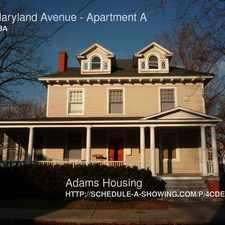 Rental info for 315 Maryland Avenue