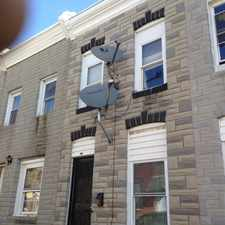 Rental info for 419 North Rose Street in the McElderry Park area