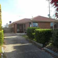 Rental info for Unique Home In Dream Location in the Werribee area