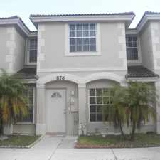 Rental info for 3/2.5 Townhome in Summit Lake (West Palm Beach) in the Palm Springs area