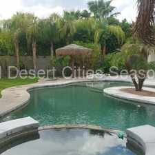 Rental info for Beautiful Rancho Mirage Pool Home