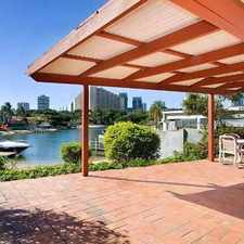 Rental info for 4 BEDROOM HOME + POOL + WATERFRONT in the Broadbeach area