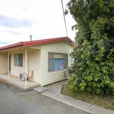 Rental info for NEAT AND TIDY TWO BEDROOM UNIT in the Bendigo area