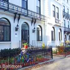Rental info for 1518-1520 Park Avenue in the Bolton Hill area