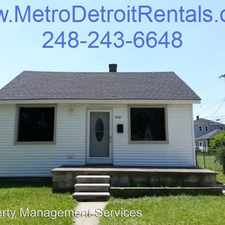 Rental info for 2161 Charter** in the 48146 area