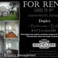 Rental info for 1021 North 9th in the Leavenworth area