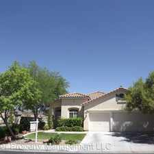 Rental info for 262 Canyon Spirit Drive in the Green Valley Ranch area