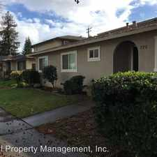 Rental info for 770 West Valley Dr #2 in the San Jose area