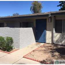 Rental info for Single story remodeled 1 bedroom, 1 bath apartment. All tile floors, close to shopping & light rail. No neighbors above you! CALL BEN 602-316-7110 in the Phoenix area