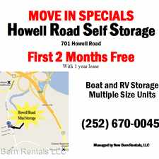 Rental info for 701 Howell Road - Howell Rd Storage - Open Space & Units