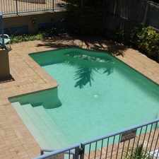 Rental info for WELL PRESENTED UNIT IN SECURE BUILDING WITH A POOL in the Gold Coast area