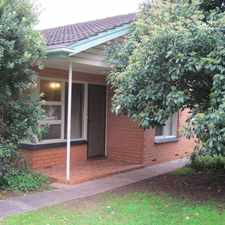 Rental info for Spacious 2 Bedroom unit in sought after location. Don't miss out! in the Adelaide area