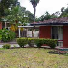 Rental info for QUIET LOCATION & PET FRIENDLY HOME in the Perth area