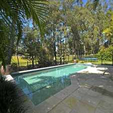 Rental info for Luxurious Family Home Featuring a Pool and Golf Course Views in the Burleigh Heads area