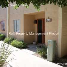 Rental info for 1347 E. Ft. Lowell Unit A in the Catalina Foothills area