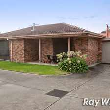 Rental info for *UNDER APPLICATION *COSY UNIT! in the Melbourne area