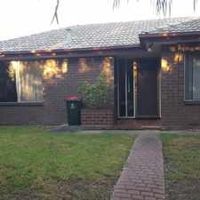 Rental info for Comfortable family home in quiet location in the Reynella area