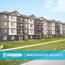 Rental info for Bridgwater Heights
