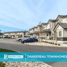 Rental info for Dansereau Townhomes in the Beaumont area