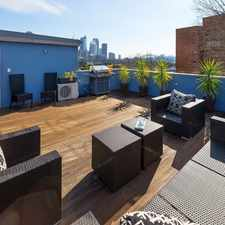 Rental info for RARE - MODERN 1 BR APARTMENT WITH OWN ROOFTOP TERRACE CAPTURING CITY/BRIDGE VIEWS in the Sydney area