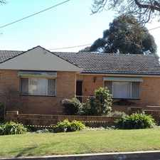 Rental info for WEST GOULBURN