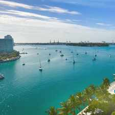 Rental info for RENOVATED SPACIOUS BAYFRONT STUDIO- GREAT WATER VIEWS & BELLE ISLE (Miami Beach) LOCATION