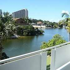 Rental info for WATERFRONT UNIT IN BROADBEACH WATERS in the Gold Coast area