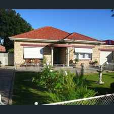 Rental info for Great family home in great location! in the Adelaide area