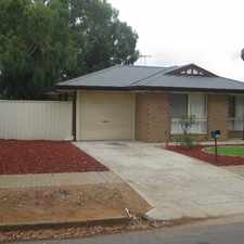 Rental info for 3 BEDROOM FAMILY HOME in the Adelaide area
