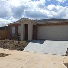 Rental info for 4 BEDROOM HOME IN THE PEPPERMINT GROVE ESTATE in the Melton area