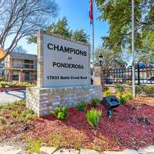 Rental info for Champions at Ponderosa in the Houston area