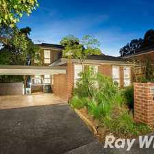 Rental info for A picturesque leafy locale in the Melbourne area