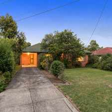 Rental info for FAMILY HOME IN THE HEART OF MOOROOLBARK in the Melbourne area