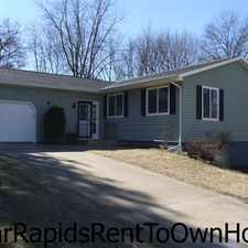 Rental info for Cedar Rapids Rent To Own Homes