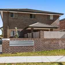 Rental info for BRAND NEW FOUR BEDROOM TOWNHOUSE in the Sydney area