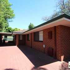Rental info for Delightful rear home in the Perth area