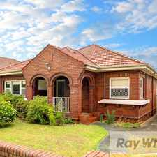 Rental info for Family Home in Convenient Location in the South Hurstville area