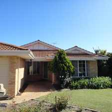Rental info for WORTH WAITING FOR THIS LARGE FAMILY HOME IS NOW AVAILABLE! in the Beeliar area