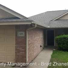 Rental info for 325 Lois St in the Waxahachie area
