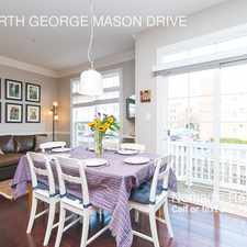 Rental info for 423 NORTH GEORGE MASON DRIVE in the Buckingham area