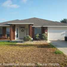 Rental info for 106 W Running Wolf in the Harker Heights area