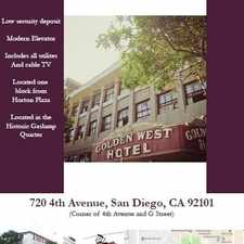Rental info for 720 Fourth Avenue - 3429 / 395 in the San Diego area
